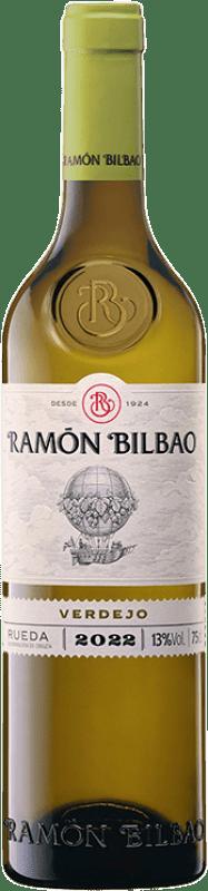 7,95 € Envío gratis | Vino blanco Ramón Bilbao Joven D.O. Rueda Castilla y León España Verdejo Botella 75 cl