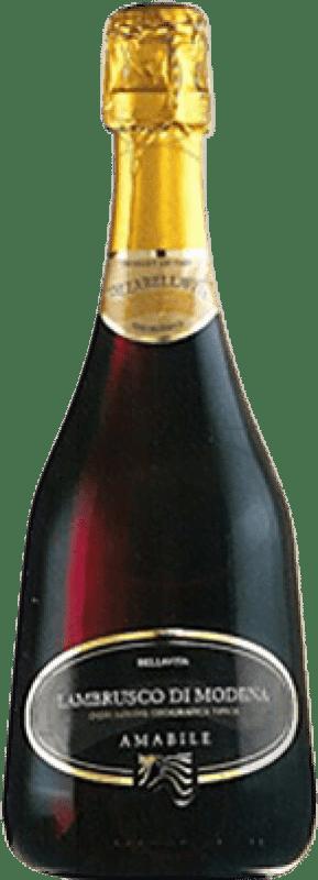 4,95 € Envío gratis | Espumoso tinto Caldirola Bellavita D.O.C. Lambrusco di Sorbara Italia Lambrusco Botella 75 cl