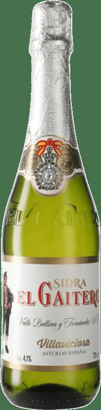 3,95 € Envío gratis | Sidra El Gaitero España Botella 70 cl