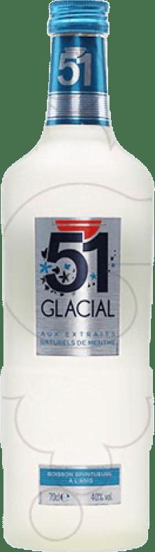9,95 € 免费送货 | 茴香酒 51 Glacial 法国 瓶子 70 cl