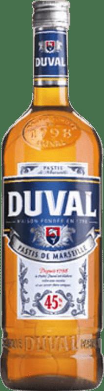 12,95 € Envío gratis | Pastis Duval Francia Botella Misil 1 L