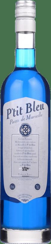 14,95 € Envío gratis | Pastis Petit Bleu Francia Botella 70 cl