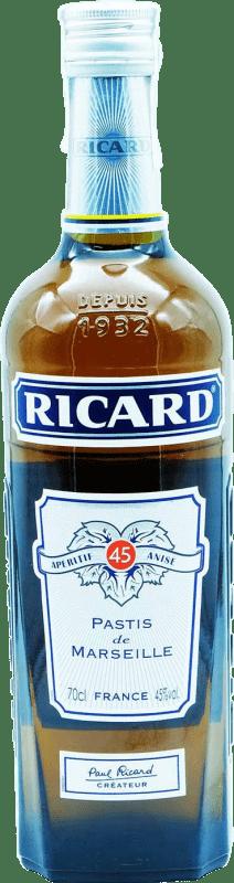 22,95 € Envío gratis | Pastis Pernod Ricard Kósher Francia Botella 70 cl