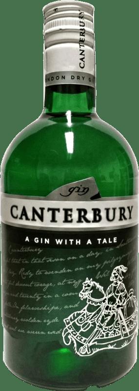 16,95 € 免费送货 | 金酒 Canterbury 西班牙 瓶子 70 cl