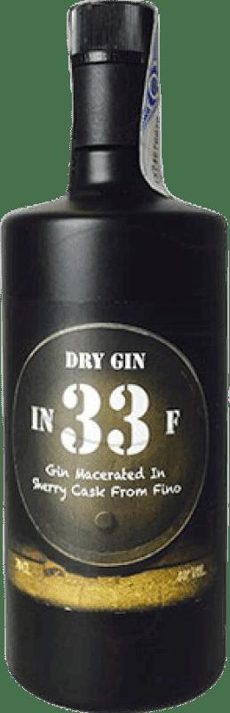 34,95 € Envío gratis | Ginebra In 33 F Gin España Botella 70 cl