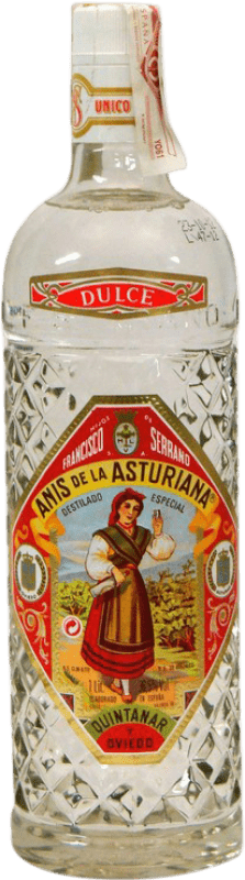 12,95 € Free Shipping | Aniseed Asturiana Anís Sweet Spain Missile Bottle 1 L