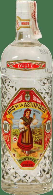 12,95 € 免费送货 | 八角 Asturiana Anís 甜美 西班牙 瓶子 Misil 1 L
