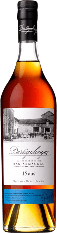 77,95 € Free Shipping | Armagnac Dartigalongue 15 Años France Bottle 70 cl