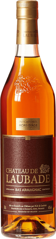39,95 € Free Shipping | Armagnac Laubade V.S.O.P. Very Superior Old Pale France Bottle 70 cl