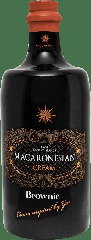 23,95 € Envío gratis | Crema de Licor Macaronesian Brownie Cream España Botella 70 cl