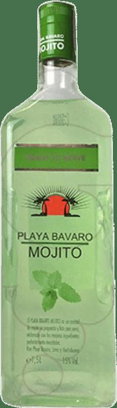 15,95 € Envío gratis | Licores Mojito Playa Bavaro España Botella Mágnum 1,5 L