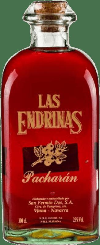 46,95 € 免费送货 | Pacharán Las Endrinas 西班牙 瓶子 Jéroboam-双Magnum 3 L