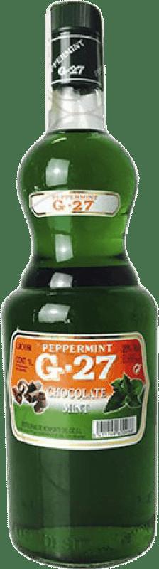 9,95 € Envoi gratuit | Liqueurs Salas G-27 Mint Chocolate Pippermint Espagne Bouteille Missile 1 L