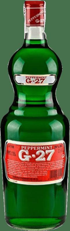 9,95 € Envío gratis | Licores Salas Verde G-27 Pippermint España Botella Misil 1 L