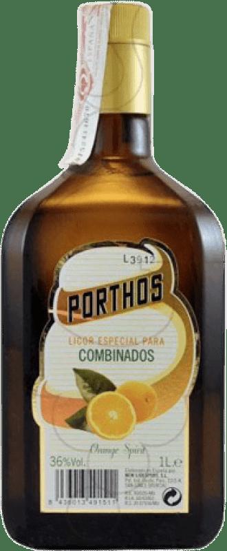 11,95 € Envío gratis | Triple Seco Porthos España Botella Misil 1 L