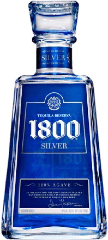 25,95 € Free Shipping | Tequila 1800 Silver Blanco Mexico Bottle 70 cl