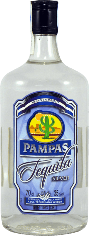 9,95 € Free Shipping | Tequila Pampas Silver Blanco Mexico Bottle 70 cl