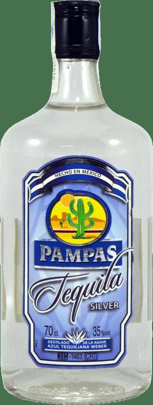 9,95 € Envoi gratuit | Tequila Pampas Silver Blanco Mexique Bouteille 70 cl
