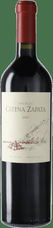 74,95 € 免费送货 | 红酒 Catena Zapata Nicolás 阿根廷 Cabernet Sauvignon, Malbec 瓶子 75 cl