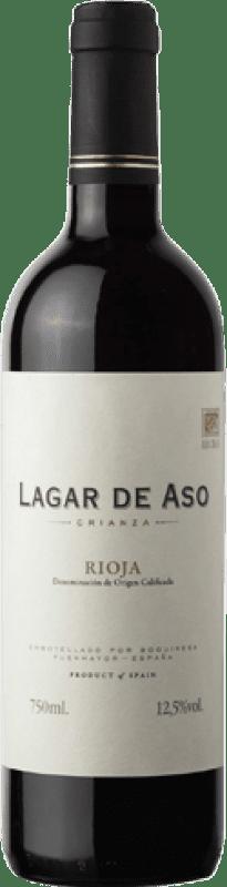 4,95 € Envio grátis   Vinho tinto Lagar de Aso Crianza D.O.Ca. Rioja La Rioja Espanha Tempranillo Garrafa 75 cl