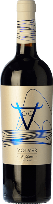 8,95 € Envoi gratuit | Vin rouge Volver Roble D.O. La Mancha Castilla la Mancha y Madrid Espagne Tempranillo Bouteille 75 cl