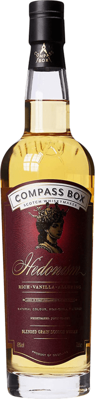 98,95 € Envío gratis | Whisky Blended Compass Box Hedonism Reserva Reino Unido Botella 70 cl