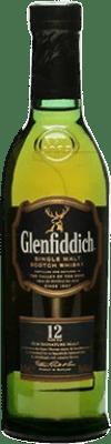 17,95 € Free Shipping | Whisky Single Malt Glenfiddich 12 Años United Kingdom Half Bottle 50 cl