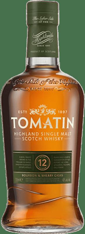32,95 € 免费送货 | 威士忌单一麦芽威士忌 Tomatin 12 Años 英国 瓶子 70 cl