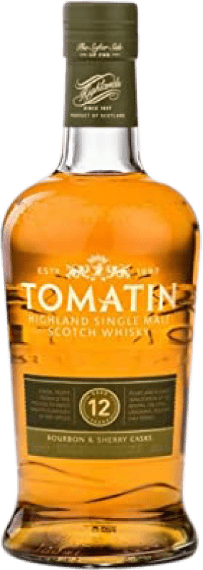 32,95 € Free Shipping | Whisky Single Malt Tomatin 12 Años United Kingdom Bottle 70 cl