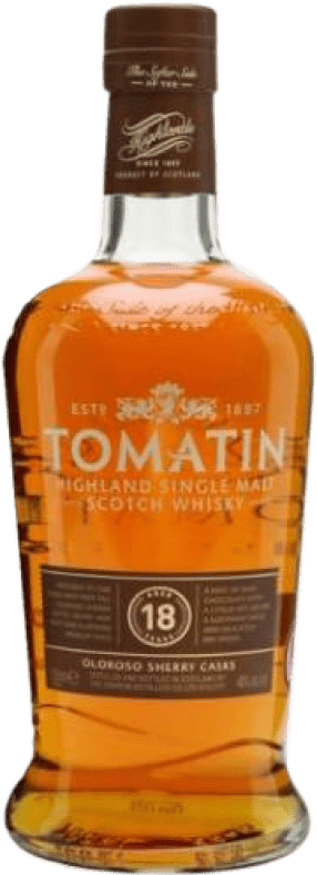 89,95 € 免费送货 | 威士忌单一麦芽威士忌 Tomatin 18 Años 英国 瓶子 70 cl