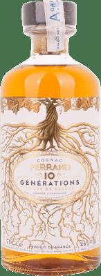 42,95 € Envío gratis | Coñac Ferrand 10 Generations Francia Media Botella 50 cl