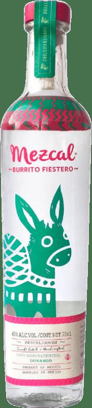 39,95 € Envío gratis | Mezcal Burrito Fiestero Mexico Botella 75 cl