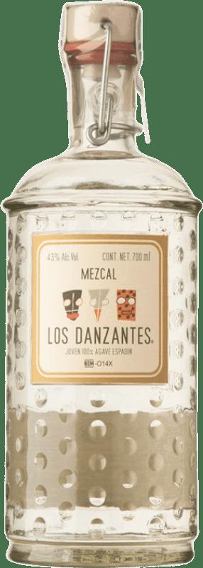 59,95 € Envío gratis | Mezcal Los Danzantes Blanco Mexico Botella 70 cl
