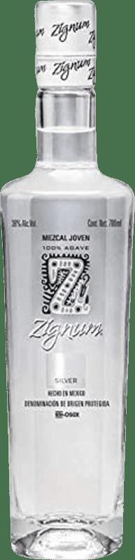 21,95 € 免费送货   梅斯卡尔酒 Zignum Silver 墨西哥 瓶子 70 cl