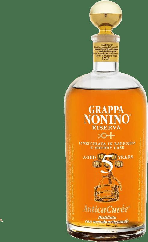 59,95 € Free Shipping   Grappa Nonino Riserva 5 Años Reserva Italy Bottle 75 cl