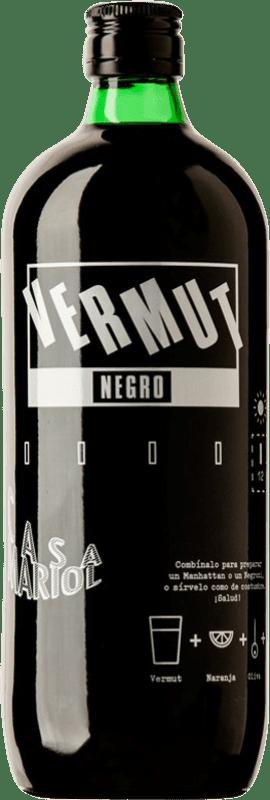 8,95 € Envío gratis | Vermut Casa Mariol Negre España Botella Misil 1 L
