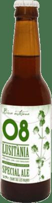 2,95 € Free Shipping | Beer Birra Artesana 08 Lusitània Especial Ale Spain Botellín Tercio 33 cl