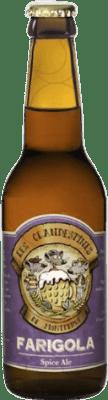 2,95 € Free Shipping | Beer Cervezas Les Clandestines Farigola Spain Botellín Tercio 33 cl
