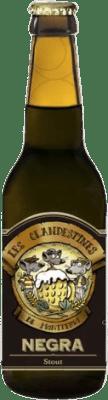 2,95 € 免费送货   啤酒 Cervezas Les Clandestines Negra 西班牙 Botellín Tercio 33 cl