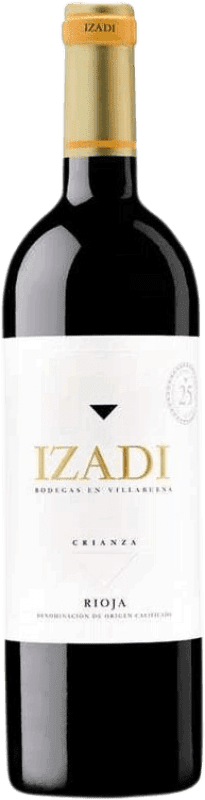 Red wine Izadi Crianza D.O.Ca. Rioja Spain Tempranillo Bottle 75 cl