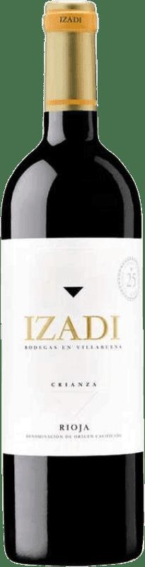 9,95 € Envío gratis | Vino tinto Izadi Crianza D.O.Ca. Rioja España Tempranillo Botella 75 cl