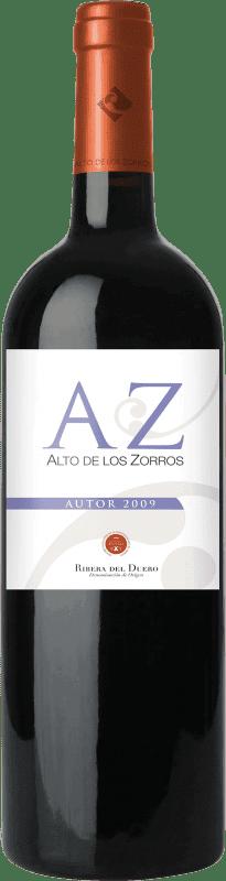 Envío gratis | Vino tinto Solterra Alto de los Zorros Autor Crianza D.O. Ribera del Duero España Tempranillo Botella 75 cl