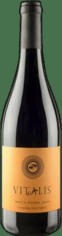 Envío gratis | Vino tinto Vitalis Vendimia nocturna Joven D.O. León España Prieto Picudo Botella 75 cl