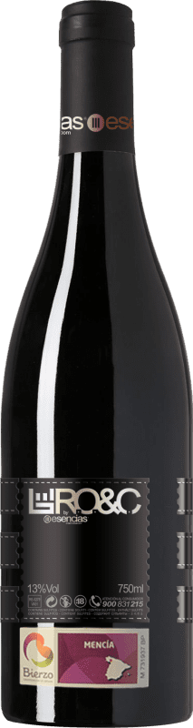 14,95 € | Vin rouge Esencias RO&C del Bierzo Joven D.O. Bierzo Castille et Leon Espagne Mencía Bouteille 75 cl