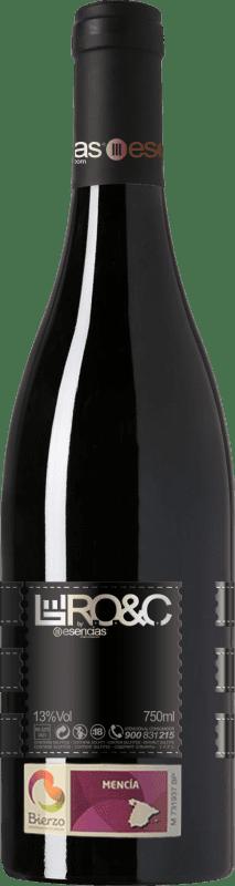 14,95 € Envio grátis | Vinho tinto Esencias RO&C del Bierzo Joven D.O. Bierzo Castela e Leão Espanha Mencía Garrafa 75 cl