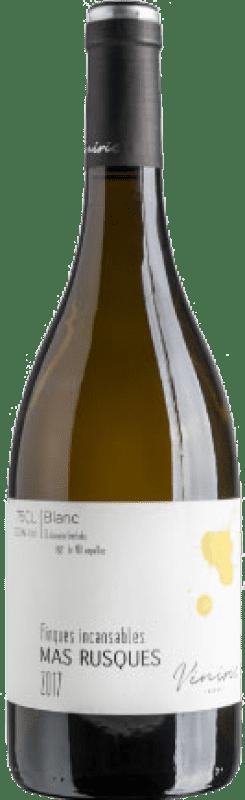 13,95 € Envío gratis | Vino blanco Viníric Finques Incansables Mas Rusques Blanc Joven D.O. Empordà Cataluña España Malvasía, Garnacha Blanca, Macabeo, Parellada Botella 75 cl