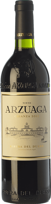 51,95 € 免费送货 | 红酒 Arzuaga Crianza D.O. Ribera del Duero 卡斯蒂利亚莱昂 西班牙 Tempranillo, Merlot, Cabernet Sauvignon 瓶子 Magnum 1,5 L