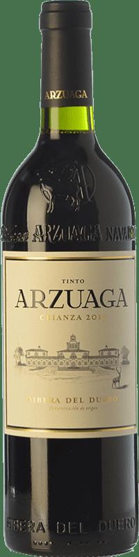 51,95 € Free Shipping | Red wine Arzuaga Crianza D.O. Ribera del Duero Castilla y León Spain Tempranillo, Merlot, Cabernet Sauvignon Magnum Bottle 1,5 L