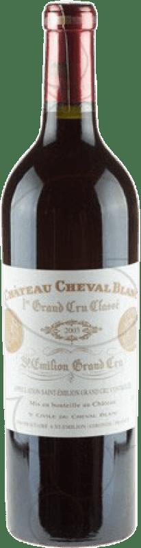 1 058,95 € Free Shipping | Red wine Château Cheval Blanc A.O.C. Saint-Émilion Bordeaux France Merlot, Cabernet Franc Bottle 75 cl