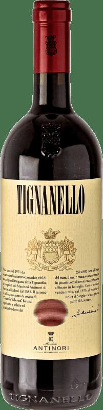 198,95 € Free Shipping | Red wine Antinori Tignanello I.G.T. Toscana Tuscany Italy Cabernet Sauvignon, Sangiovese, Cabernet Franc Magnum Bottle 1,5 L